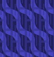 Retro 3D blue wavy with rectangles vector image