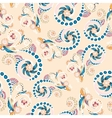 Seamless floral pattern with doodles and cucumbers vector image