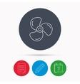 Ventilation icon Fan or propeller sign vector image