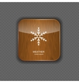 Weather wood application icons vector image