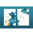 Color business brochure cover template vector image