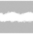 Snowflakes border EPS 10 vector image