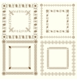 Collection of vintage calligraphic square frames vector image