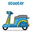 Cartoon design scooter for kids vector image