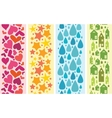 Set of four colorful horizontal seamless patterns vector image vector image