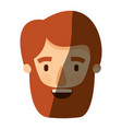 color image shading caricature front view bearded vector image