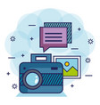 photo camera network multimedia web app icons vector image