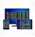 Electronic library devices vector image vector image