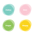 Abstract round design elements with hashtag