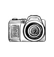 Doodle Camera on a white background vector image