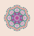 circular floral ornament in east style vector image