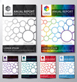 Cover Annual report set vector image