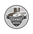 cowboy rodeo vintage isolated label vector image