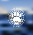 Nature adventure badge vector image