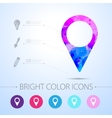 navigation icon with infographic elements vector image