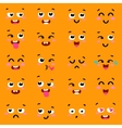 Square emoticon emoji set of colorful emoticons vector image