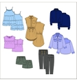 Vecor kids clothes Color vector image