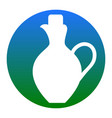 amphora sign   white icon in vector image