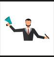business man office job stress work vector image