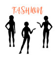fashion woman silhouette in sporty style vector image