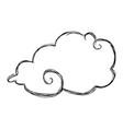 cloud doodle draw vector image