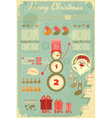 Infographic with Santa Claus vector image