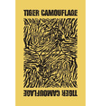 Tiger camouflage vector image vector image