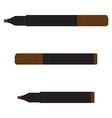Brown marker set vector image