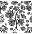 seamless tree pattern 023 grunge vector image