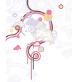 abstract retro lovely colorful background vector image