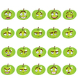 set of smiles apples vector image vector image