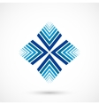 Abstract snowflake vector image