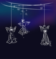 Angels the christmas tree decoration vector image