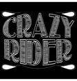 Crazy rider vector image