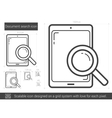Document search line icon vector image