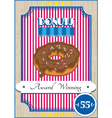Donut poster vector image