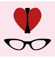 I love glasses print vector image