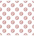 No smoking sign pattern cartoon style vector image