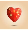 Origami polygonal heart vector image