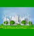 paper cut of eco concept vector image