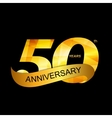 Template Logo 50th Anniversary vector image