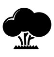 tree icon simple style vector image