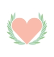 cute floral wreath with heart decorative vector image