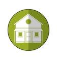 familiy house countryside green circle vector image