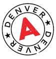 Denver stamp rubber grunge vector image