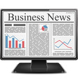 Business News in Computer vector image vector image