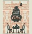banner for a sidewalk cafe vector image