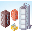 isolated isometric buildings vector image