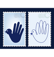 postage stamp post vector image vector image
