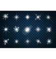 Shine stars with glitters and sparkles vector image